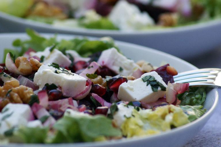 Création maison - salade composée de petit épeautre et feta