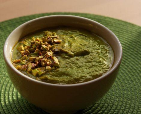 soupe de saison végan local courgettes, poireaux, blettes